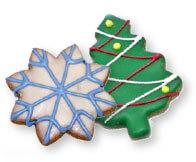 christmass tree shaped cookie